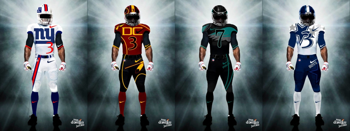 (PHOTOS) NFL Team Uniforms Redesigned