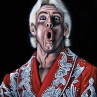 (PHOTOS) WTF FILE: Black velvet paintings of old school wrestlers