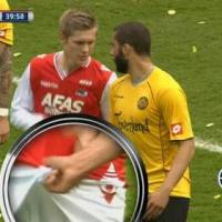(PHOTO) Soccer Star Gets to Second Base